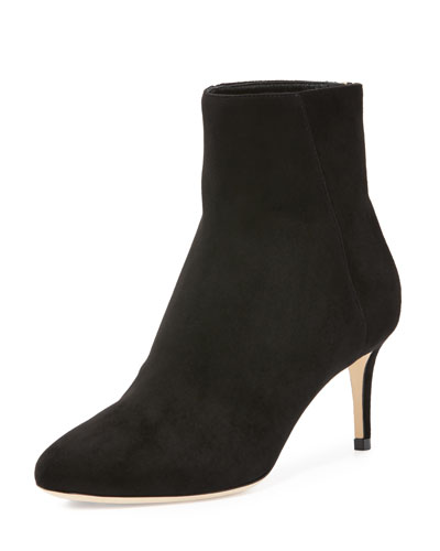 Duke Suede 65mm Bootie, Black