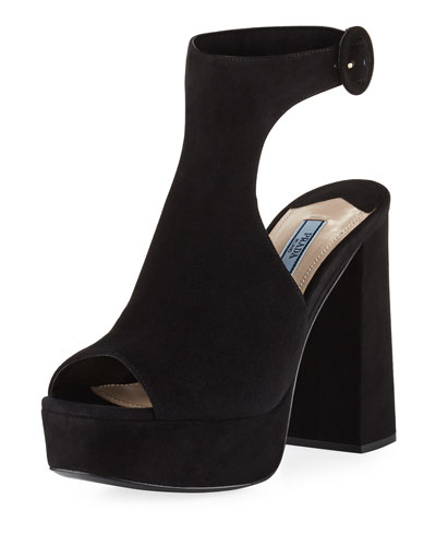 Suede Ankle-Wrap 115mm Sandal