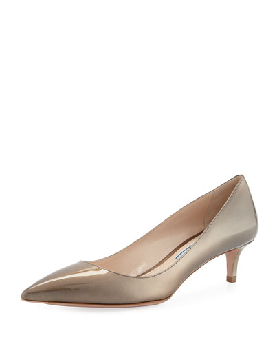 Pearlescent Patent Pointed-Toe 45mm Pump