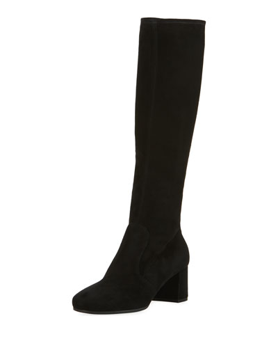 55mm Stretch Suede to the Knee Boot