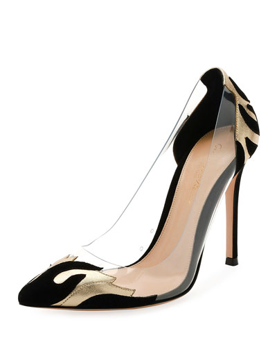 Plexi/Metallic 105mm Pump, Black/Gold