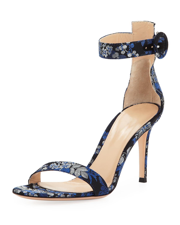 Portofino Floral Ankle-Wrap Sandal
