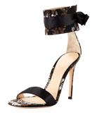 Issa Floral-Jacquard 105mm Sandal