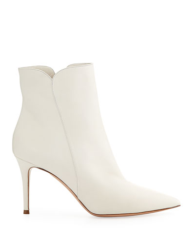 Notched Leather 85mm Bootie
