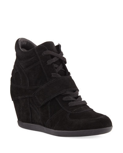 Bowie Lace-Up Suede Sneaker Booties