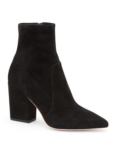 Isla Suede Chunky-Heel Boot