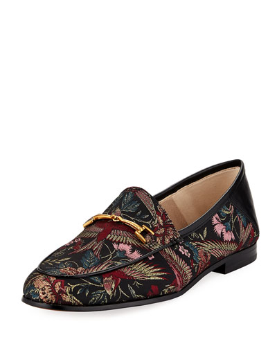 Loraine Horsebit Bird Jacquard Loafer
