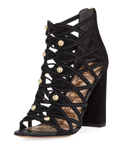 Yeager Military Caged Open-Toe Bootie