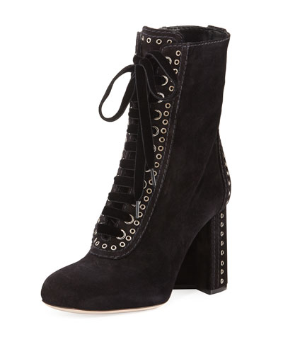 Lace-Up Bootie w/ Grommet Detail