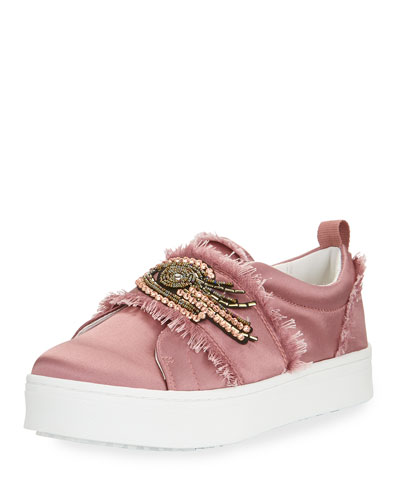 Levine 2 Satin Platform Slip-On Sneaker