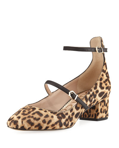 Lulie Strappy Block Fur Pump, Sand