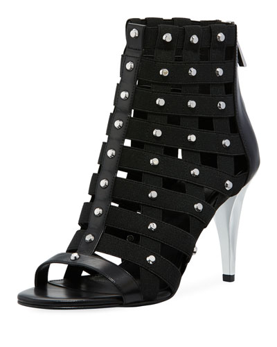 Sherry Studded Open-Toe Cage Sandal