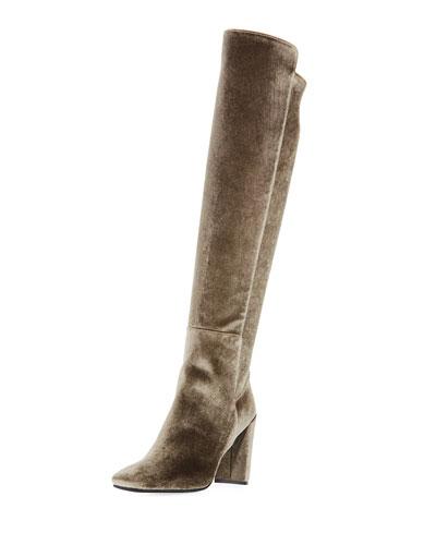 Jackson Stretch Velvet Over-The-Knee Boot