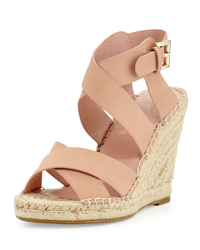 Kaelyn Crisscross Wedge Espadrille Sandal