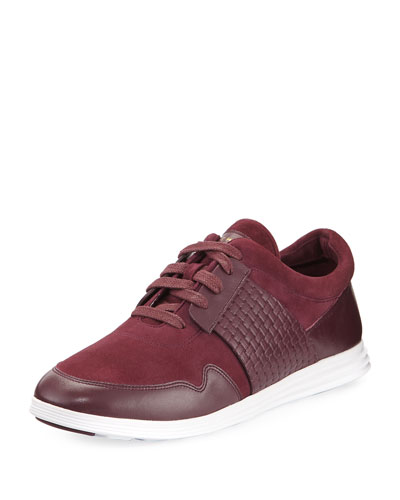 Misha Grand Sport Oxford Sneaker, Dark Red
