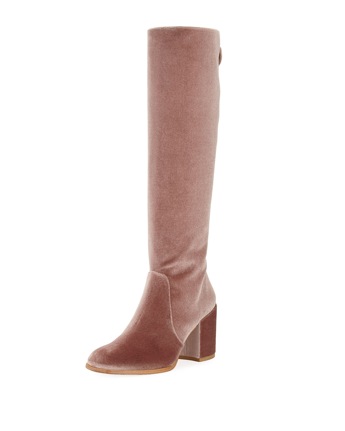 Suburb Velvet Knee Boot