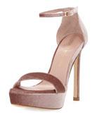 Tour Velvet Platform Sandal, Candy