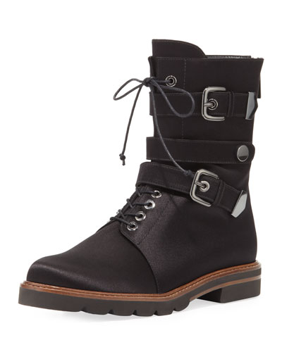 Urbanite Satin Combat Boot