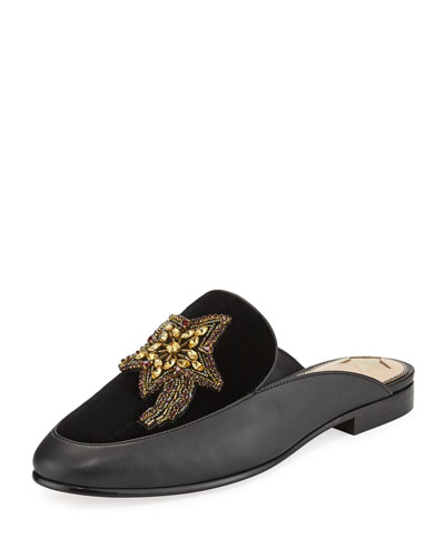 Pemberly Moon & Star Mule Loafer