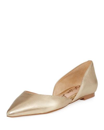 Rodney Metallic Leather Ballerina Flat