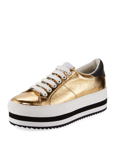 Grand Platform Metallic Low-Top Sneaker