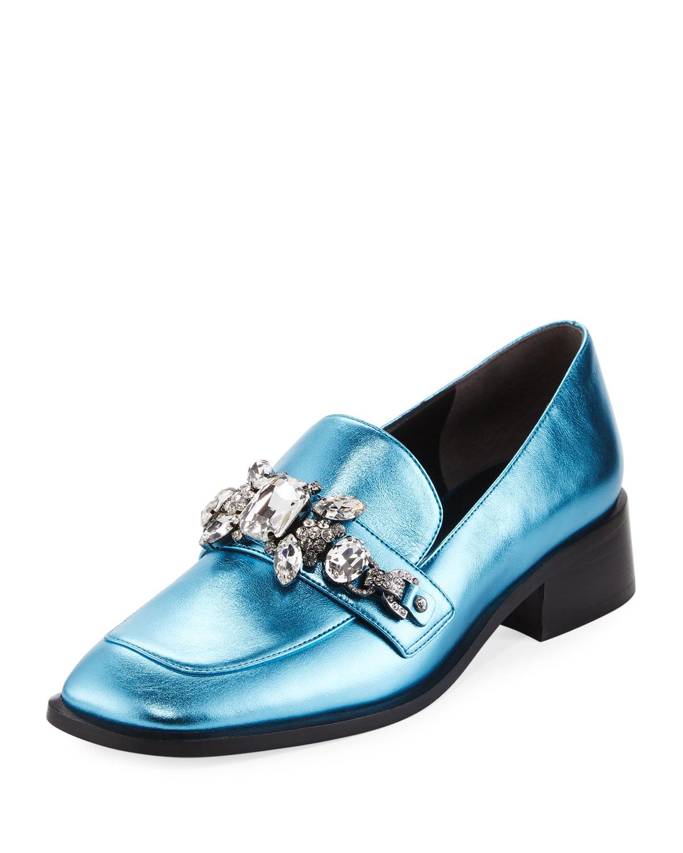 Tilde Embellished Metallic Loafer