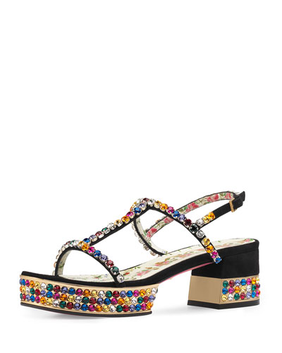 Mira Crystal-Embellished Sandal
