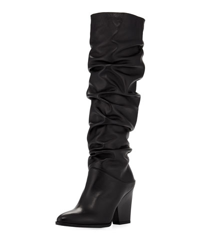 Smashing Leather Knee Boot