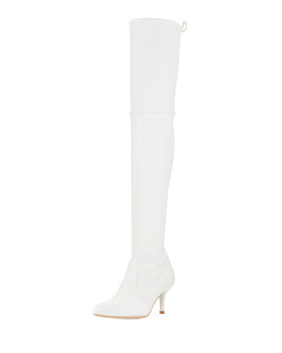Tie Model Plonge Leather Over-The-Knee Boot