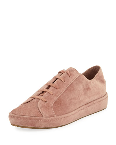 Daryl Velvet Low-Top Platform Sneaker