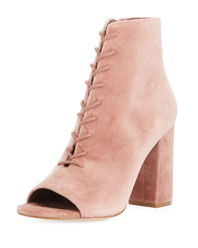 Lakia Velvet Open-Toe 95mm Bootie
