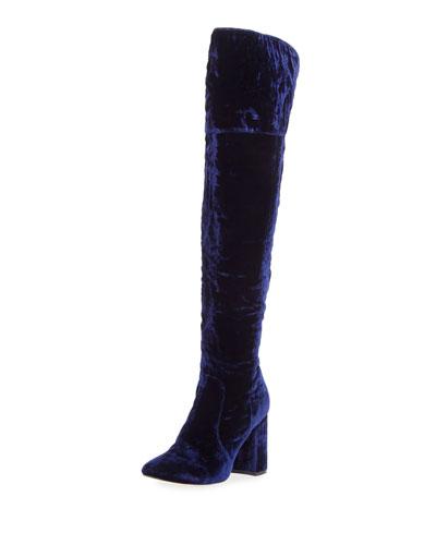 Lalana Velvet 90mm Over-the-Knee Boot
