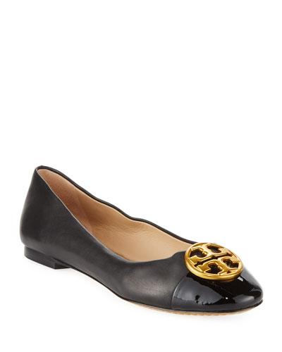 Chelsea Soft Leather Cap-Toe Ballet Flats