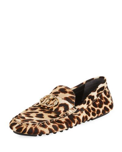 Gemini Link Calf Hair Driver, Leopard
