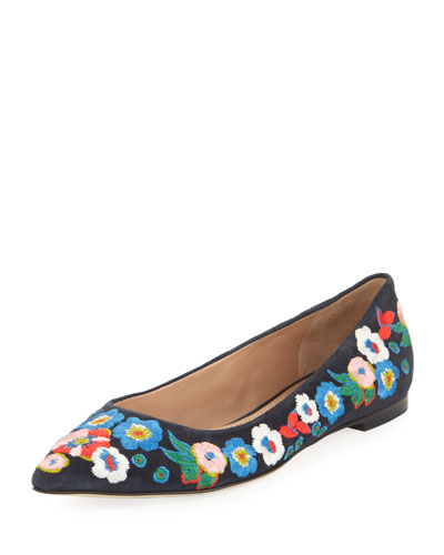 Rosemont Embroidered Ballerina Flat