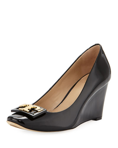 Gigi Patent Leather 75mm Wedge Pump