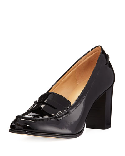 Bayville Patent Leather Loafer Pump