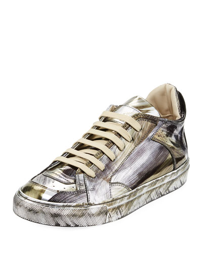 Mirrored Brush Low-Top Sneaker