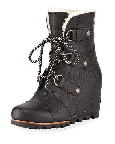 Joan Of Arctic Leather Wedge Boot