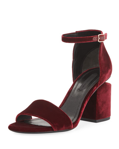 Abby Velvet City Sandal