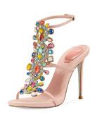 Multi-Embellished 105mm Sandal
