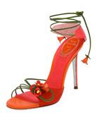 Flower Self-Tie 105mm Sandal