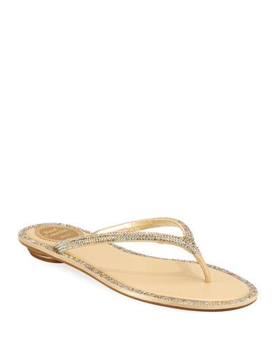 3603ad38b Quick Look. Rene Caovilla · Flat Strass Thong Sandal