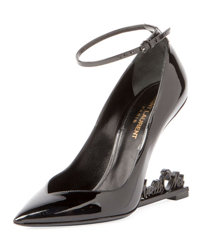 Opyum Appelle Moi Patent Text-Heel Pump