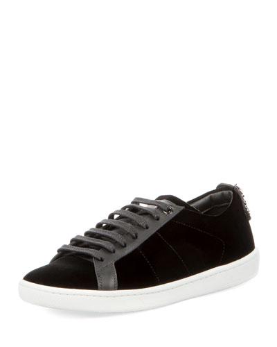 Court Classic Velvet Low-Top Sneaker