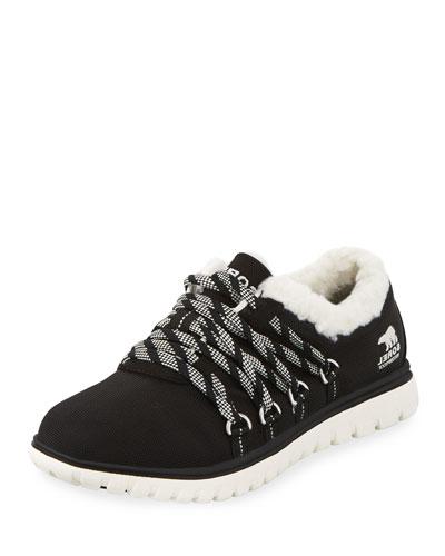 Cozy Go Waterproof Nylon Sneaker, Black
