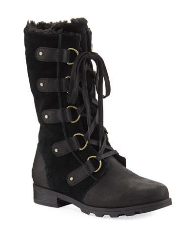 Emelie Mixed Leather Boot