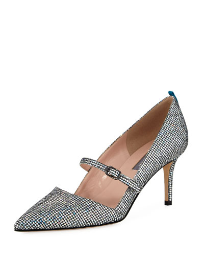 Nirvana Iridescent 70mm Pumps, Silver