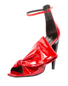 Freja Patent Sandal with Large Bow