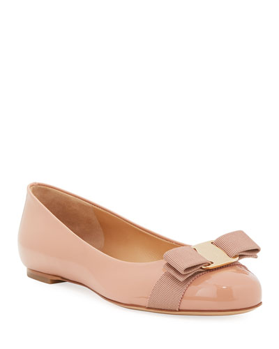 Patent Ballerina Flat, New Blush